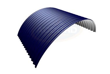 "Curved 3"" Corrugated Steel Sheets"