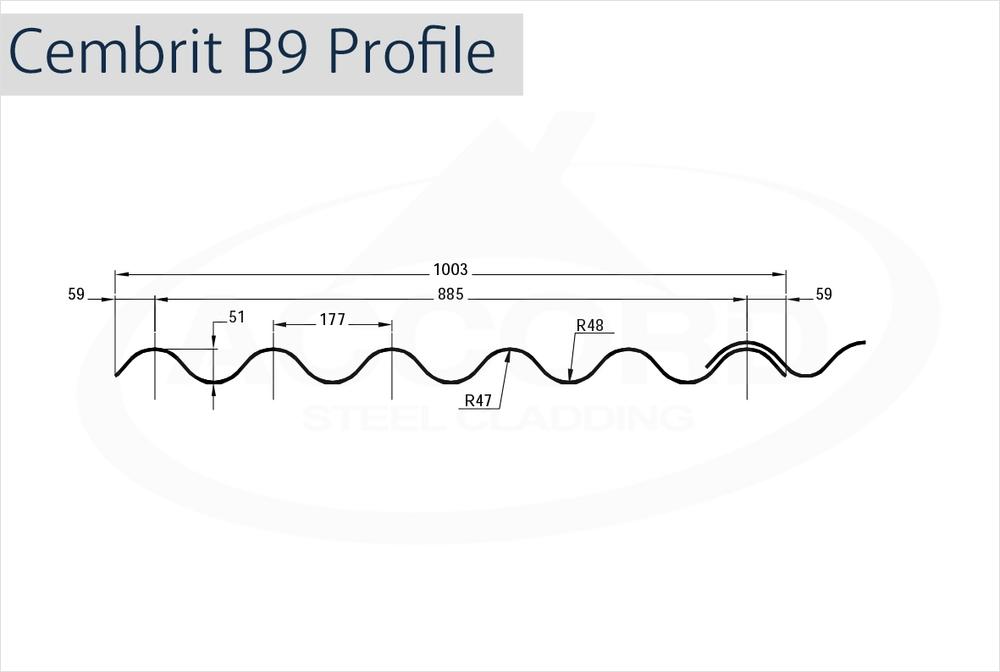 Cembrit B9 Profile Grp Sheets Accord Steel Cladding