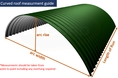 Curved roof measurment guide