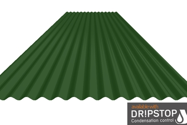 "3"" Corrugated Steel Cladding with Dripstop Liner"