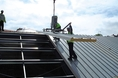 Kingspan KS1000RW panels being fitted