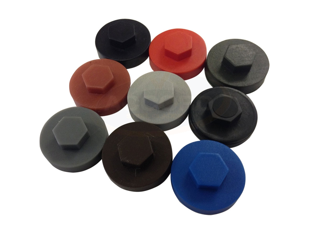 19mm colour coded tek screw caps accord steel cladding. Black Bedroom Furniture Sets. Home Design Ideas