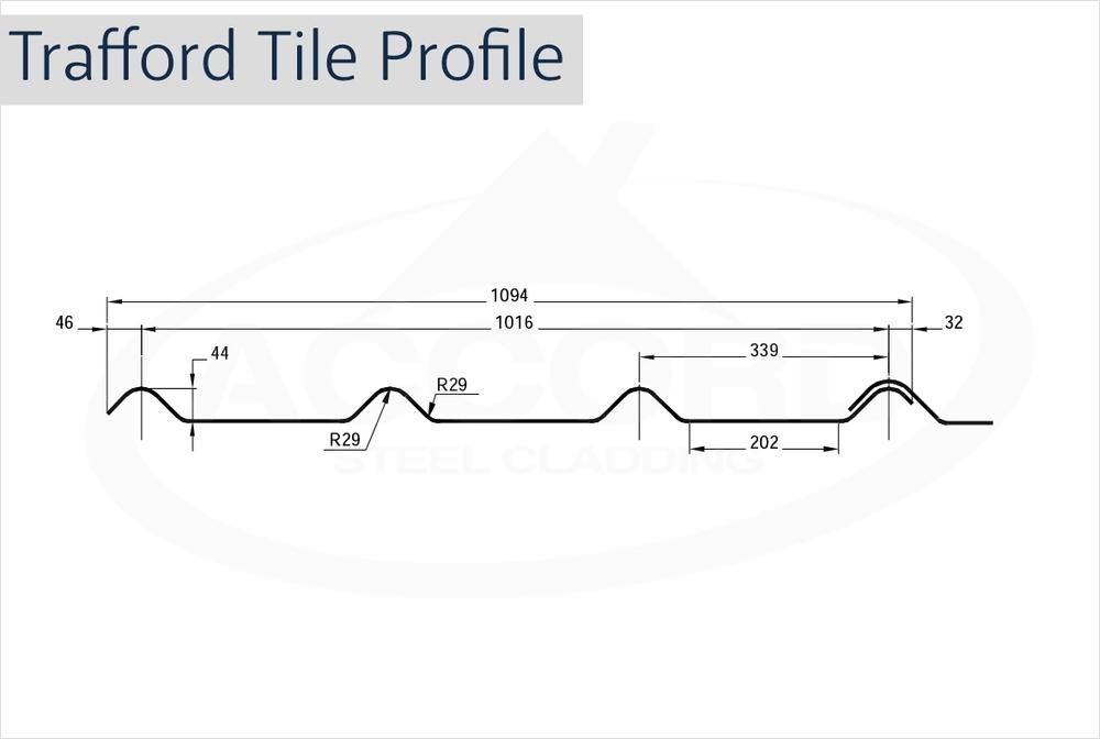 Trafford Tile Profile Grp Sheets Accord Steel Cladding
