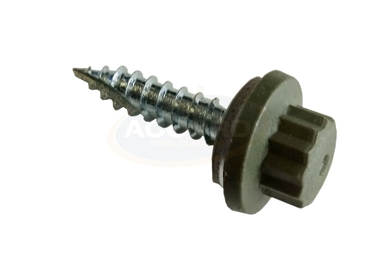 Olive Green Moulded Head Screw
