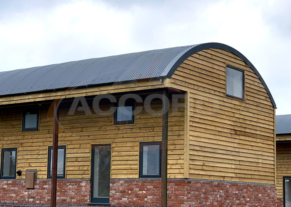 """Curved 3"""" corrugated steel sheets 
