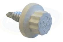 Moulded Coloured Headed Stitch Screws