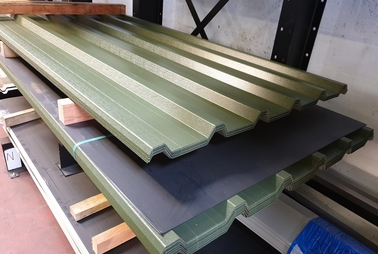 Box Profile Stock Sheets Olive Green