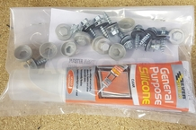 Pipe flashing fixing kit