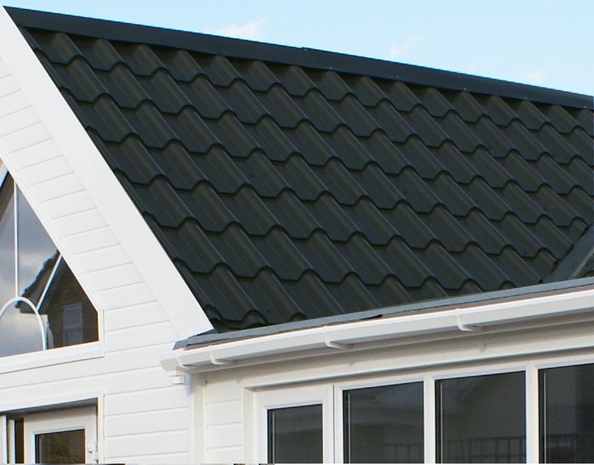 0.7mm Tile Effect Roofing sheets Terracotta steel roof sheets Plastisol