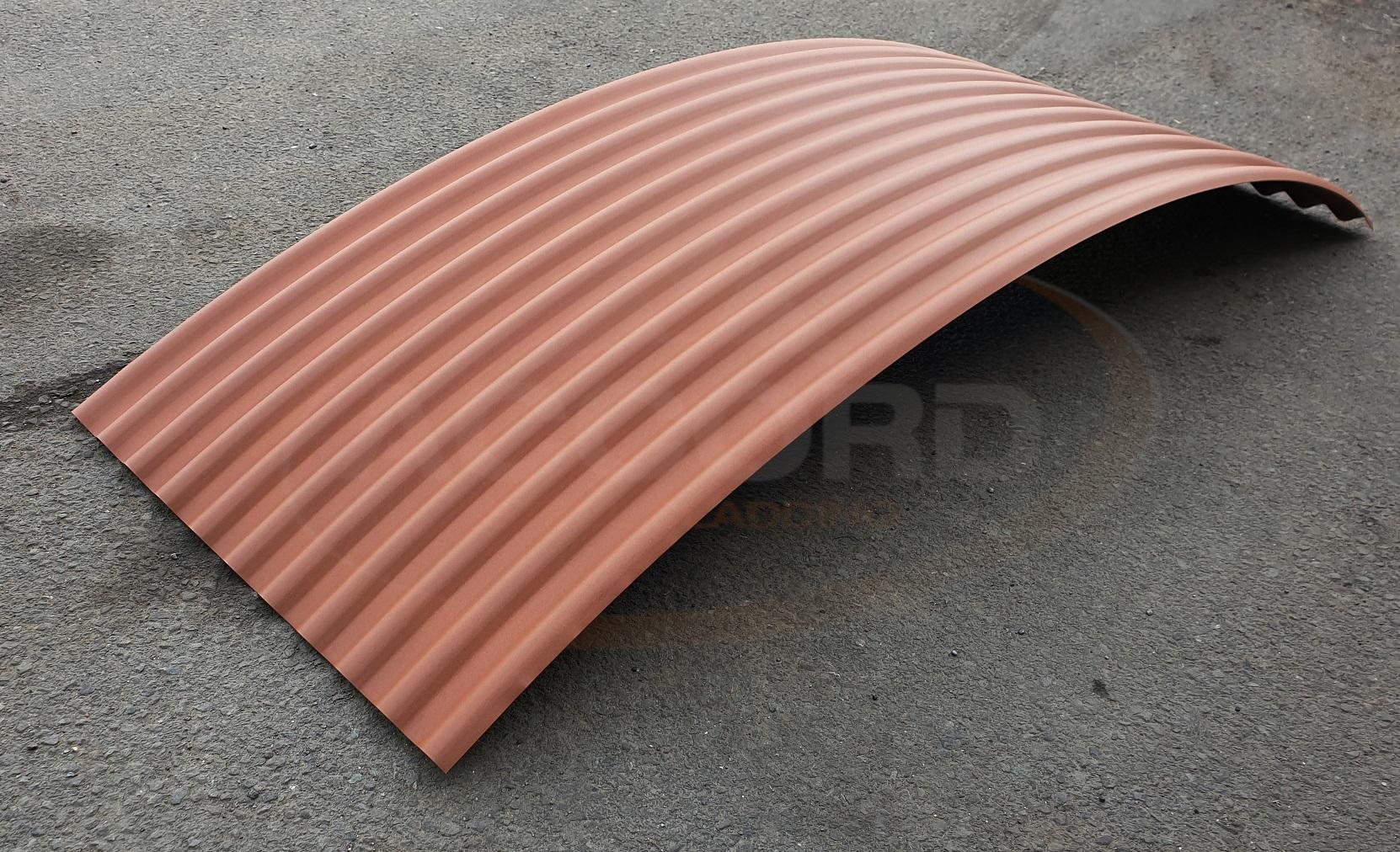 Corten Effect Shepherds Hut Roof Sheets Accord Steel Cladding